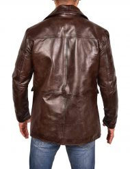 brad pitt inglourious basterds brown leather biker jacket