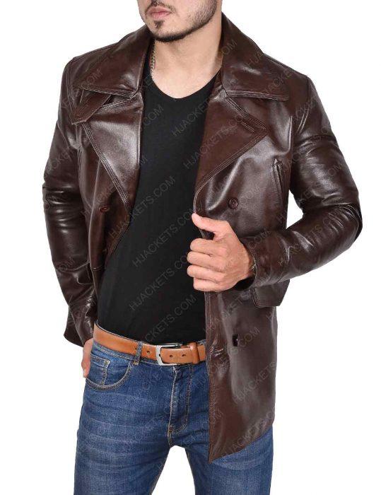 brad pitt inglourious basterds brown leather jacket