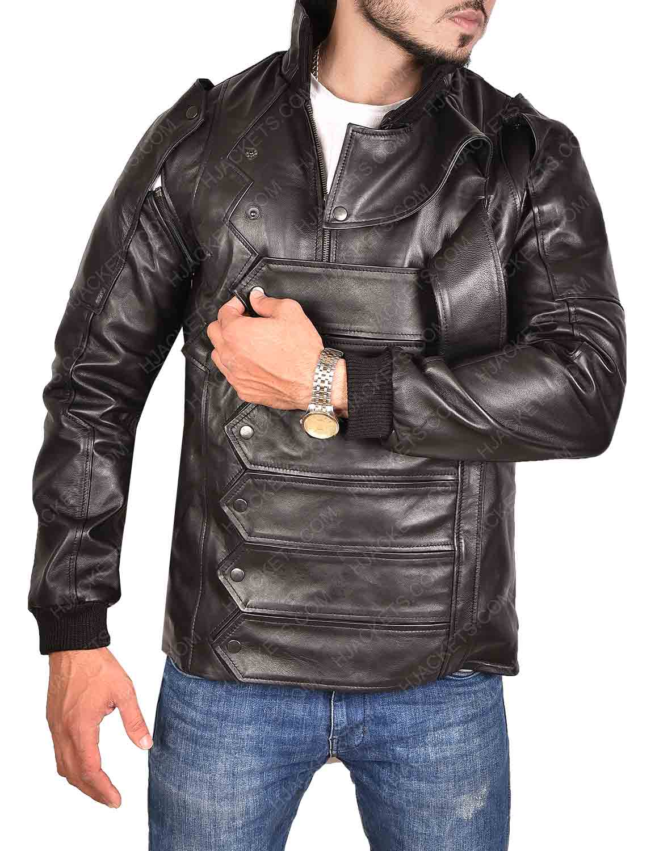 Winter Soldier Bucky Barnes Captain America Black Leather ...