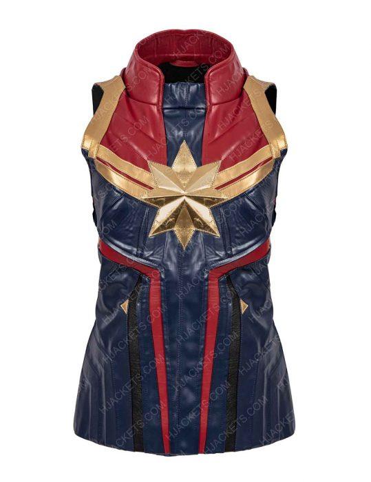 captain marvel leather vest