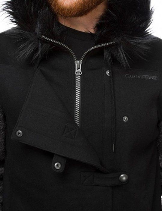 game of thrones jon snow shearling hoodie