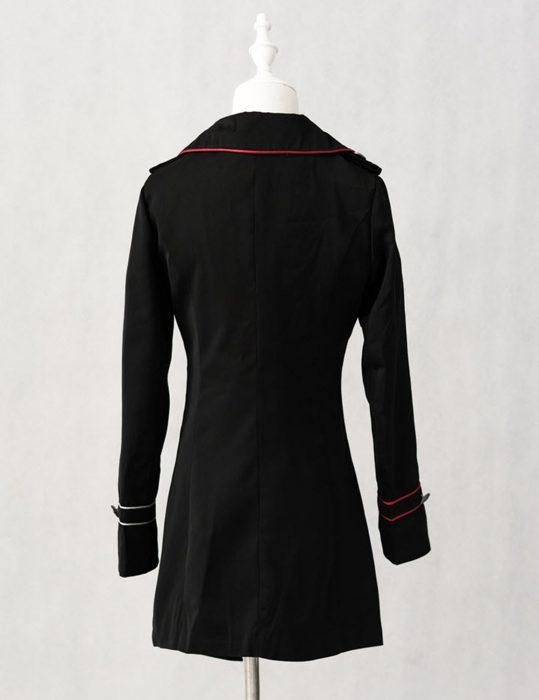 military lolita black coat