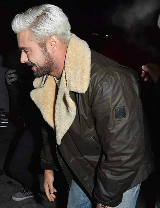 Extremely Wicked Zac Efron Leather Fur Jacket