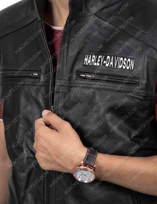 Harley Davidson Black Biker Vest