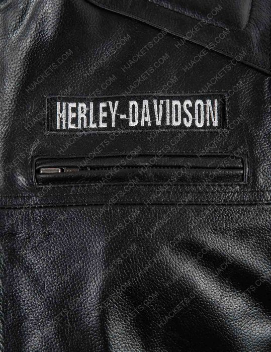 Harley Davidson Logo Leather Vest (2)