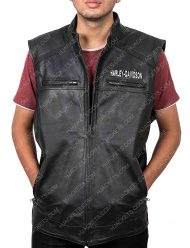 Leather Vest By Harley Davidson