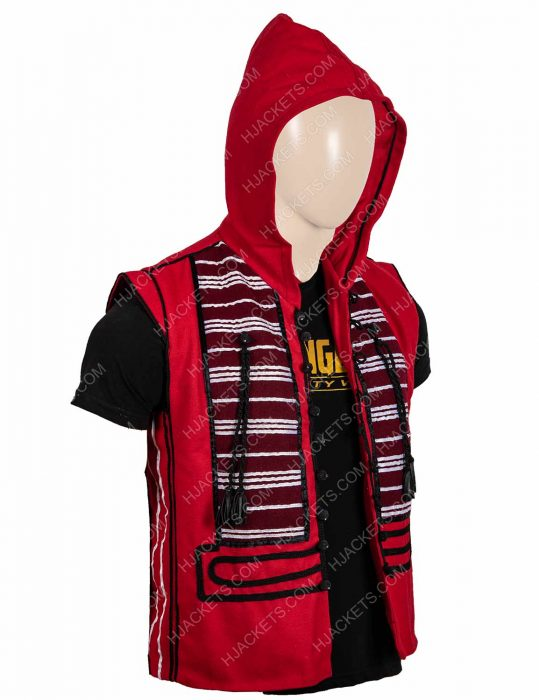 Mena Massoud Red Vest