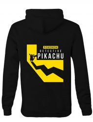 Pokemon Detective Pikachu black cotton Hoodie