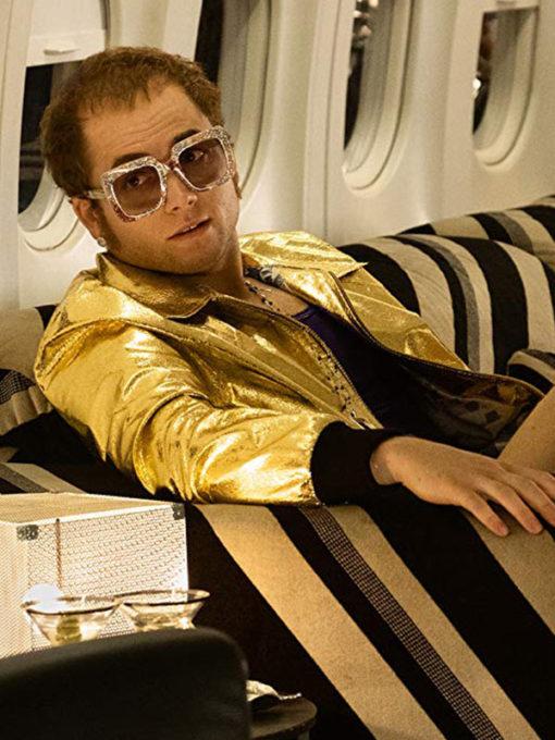 Rocketman Taron Egerton Golden Jacket