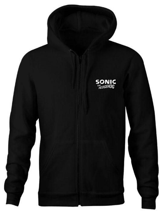 Sonic The Hedgehog Black Cotton Hoodie