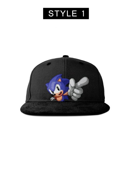 Sonic the Hedgehog black Cap