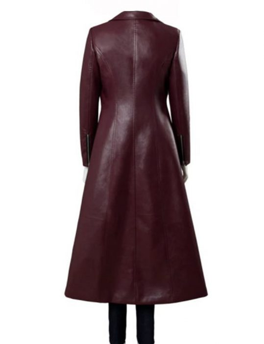 x men dark phoenix jean grey red leather coat