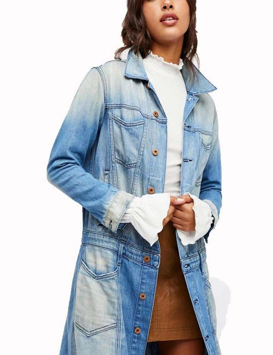 zoe ramirez blue denim coat