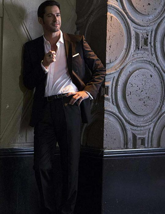 lucifer morningstar black cotton suit