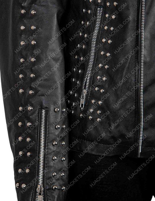 raffey cassidy studded jacket