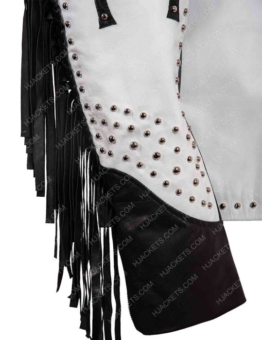 silver studded leather jacket