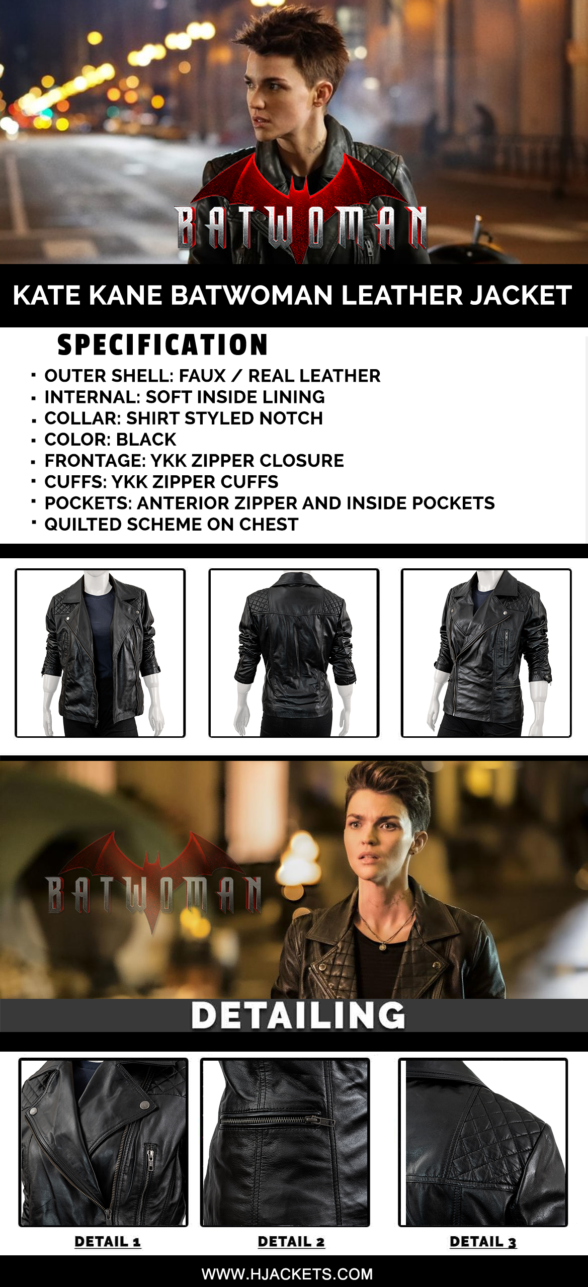 kate kane batwoman jacket infographic
