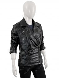 batwoman black leather jacket