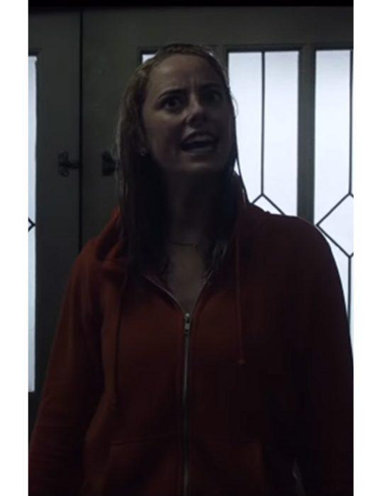 crawl haley keller red cotton hoodie