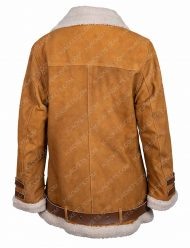 hailey baldwin velocite fur collar jacket