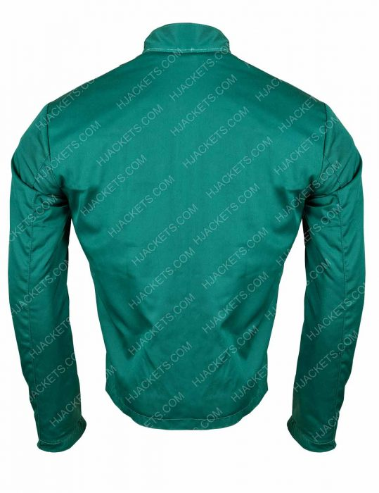 the boys hughie campbell green cotton jacket