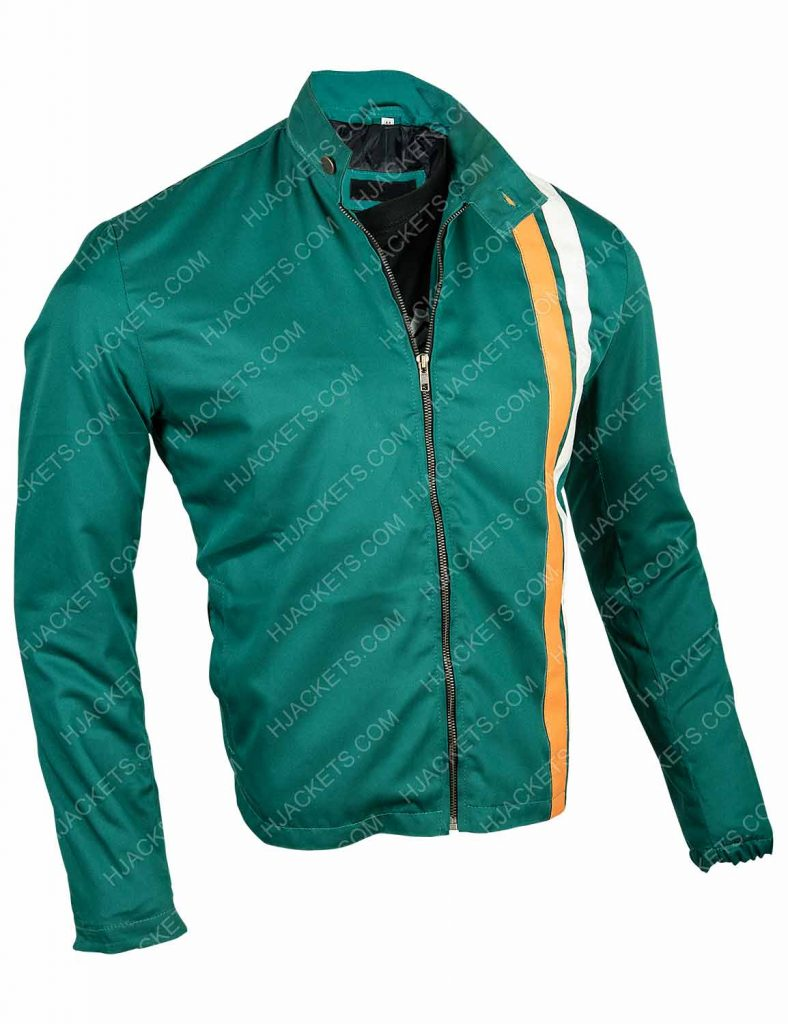 the boys hughie campbell green strip jacket