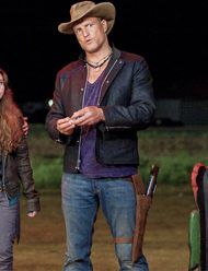 zombieland double tap woody harrelson black jacket