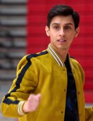 High School Musical Carlos Yellow leather Jacket