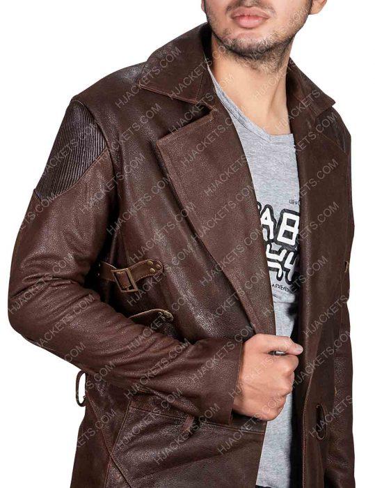 alita battle angel dr. dyson ido brown coat