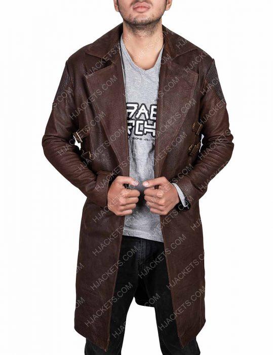 alita battle angel dr. dyson ido trench coat