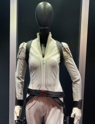 black widow white costume jacket