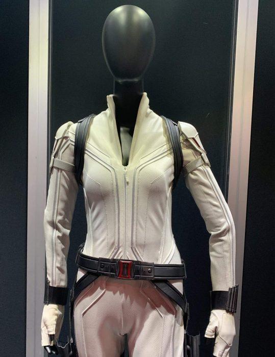 black widow white costume jacket