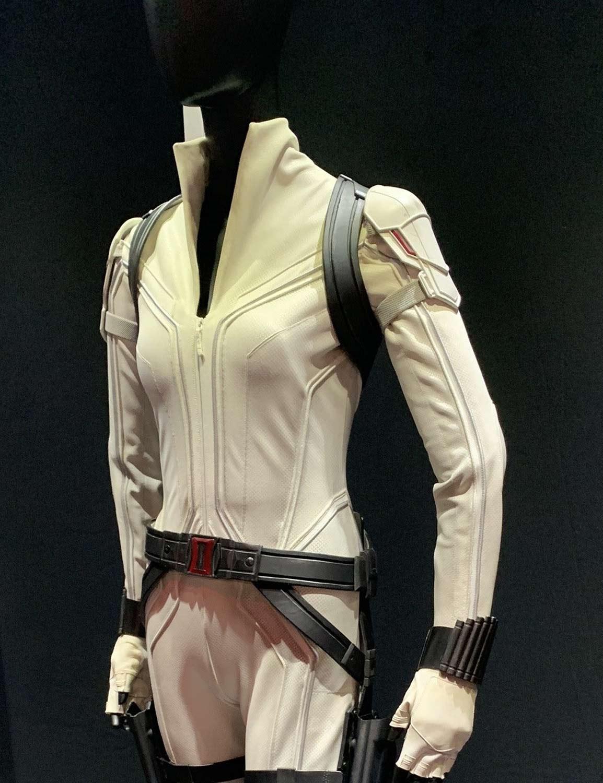 Natasha Romanoff Black Widow Scarlett Johansson White Jacket