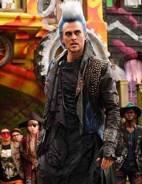 descendants3 hades leather studd jacket