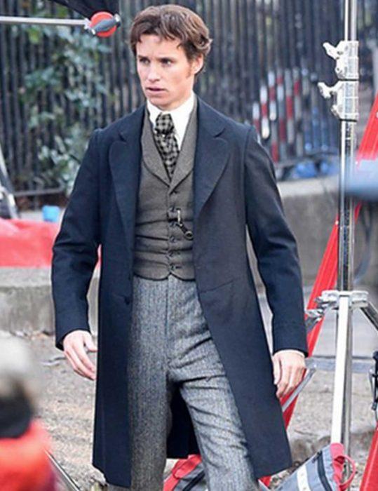 the aeronauts eddie redmayne blue coat