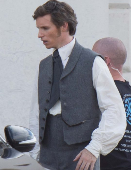 the aeronauts eddie redmayne grey vest