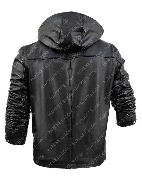 tommy egan power black leather jacket