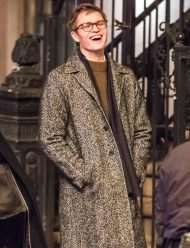 The Goldfinch Ansel Elgort Wool Coat