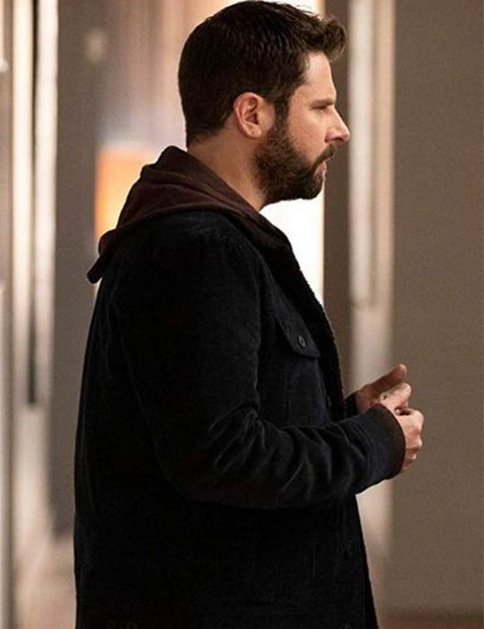 a million little things james roday black corduroy jacket
