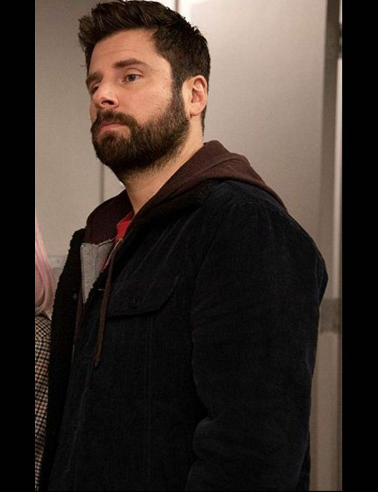 a million little things james roday corduroy black jacket