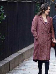 living with yourself aisling bea wool brown coat
