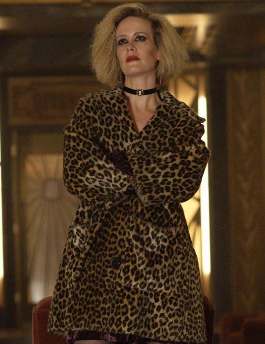 American Horror Story Sarah Paulson Leopard Coat