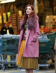 Anne Hathaway Modern Love Lexi Pink Coat