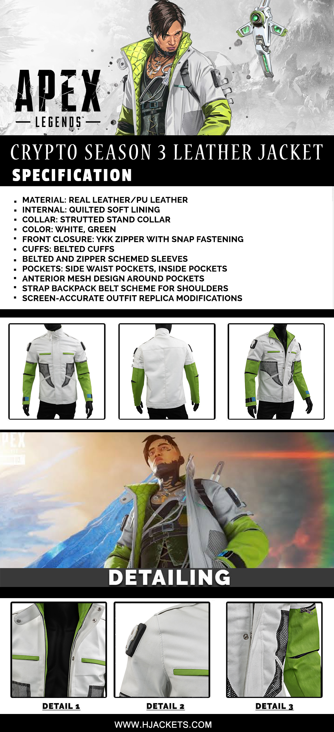Apex Legends Crypto Jacket Infographic