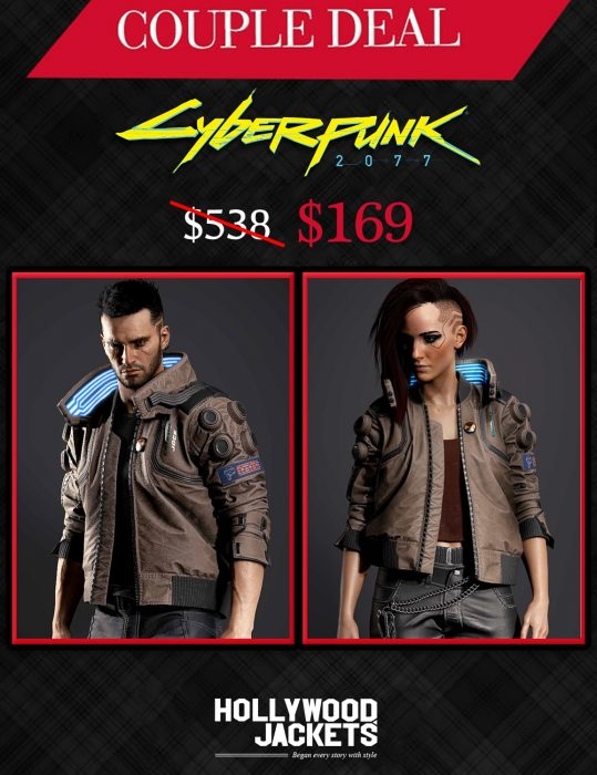 Halloween Couple Deals Cyberpunk 2077 Jacket