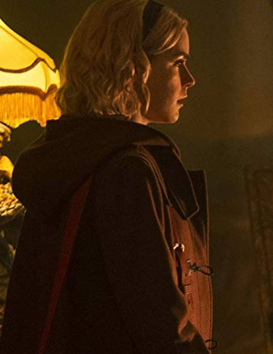 Kiernan Shipka Chilling Adventures Of Sabrina Leather Coat