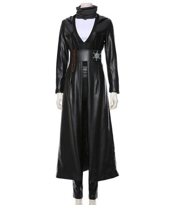 Regina King Watchmen Hooded trench Coat