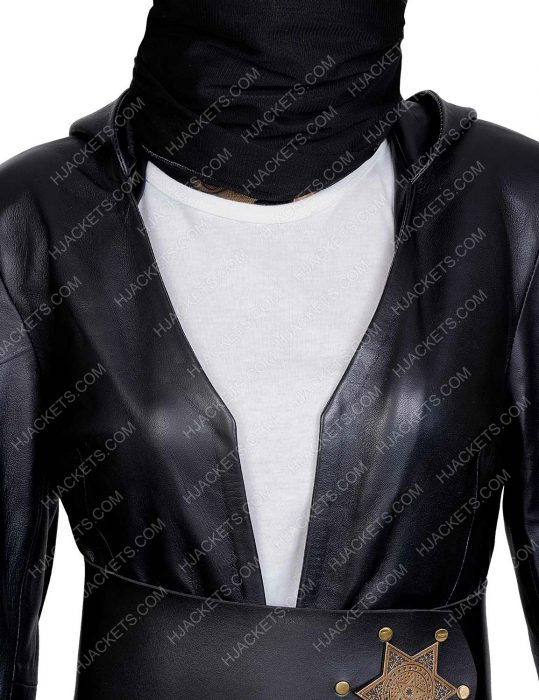 Watchmen Angela Abar Black Hooded Coat