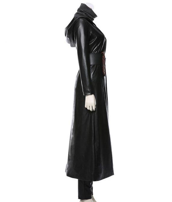 Watchmen Regina King Black Long Coat