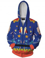 harley quinn birds of prey blue hoodie